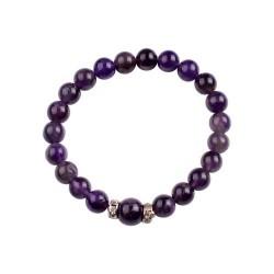Bracelet en perle d'améthyste