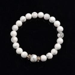 Bracelet en perle de Howlite
