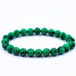 Bracelet en perle de Malachite